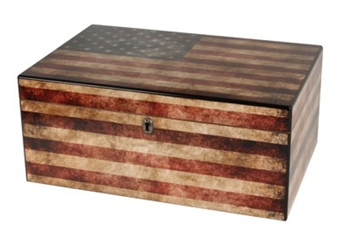 Old Glory Desktop Humidor - 25-50 Cigars