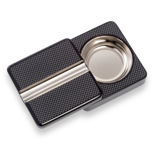 Bey-Berk Carbon Fiber Single Cigar Ashtray (C311)