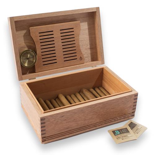 American Chest Americana Rustic Solid Mahogany 75-Cigar Humidor (HNE2)