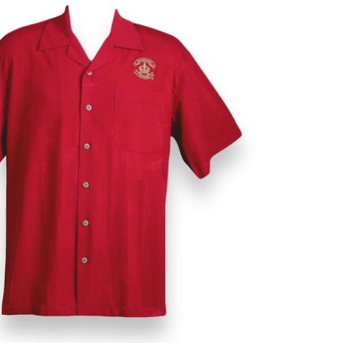 Diamond Crown Red Cubavera Shirt