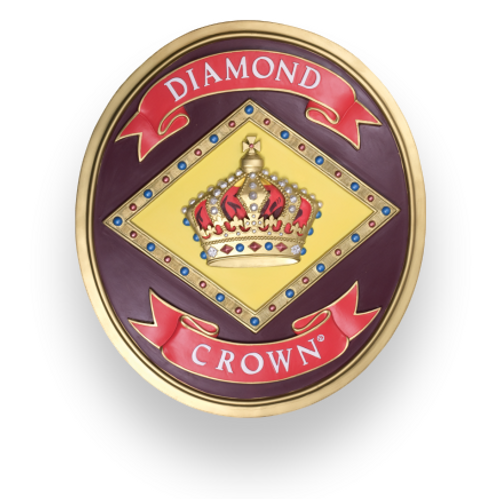 Diamond Crown Markenplakette (POS9320)