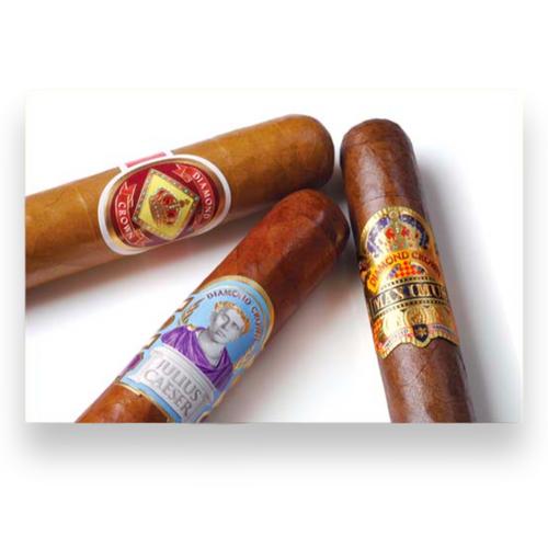 Diamond Crown Three Cigar Poster