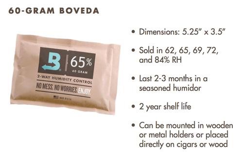 Boveda 65% relative Luftfeuchtigkeit Luftfeuchtigkeit 12er Pack, groß 60 Gramm (BV-HDF-65-12PK-60G)