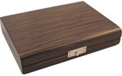 Ebony Wood Travel Humidor - 24 Cigars
