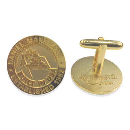 Daniel Marshall Golden Cufflinks (DM-CLO-CUFFLNKS-GD)