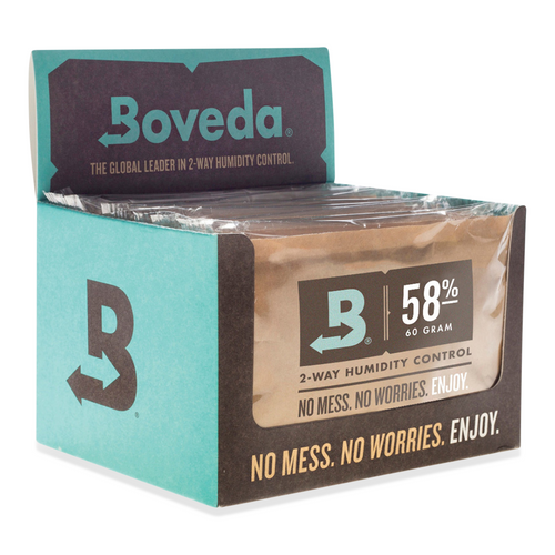 Boveda 58% RH Humidity 12-Pack, Large 67 gram (BV-HDF-58-12PK-67G)