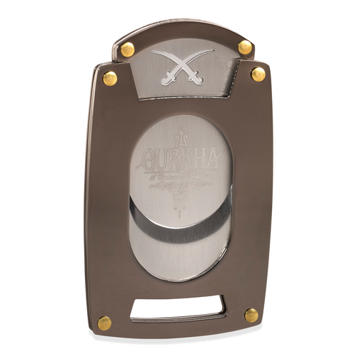 Gurkha Slim Line Guillotine Double-Blade Cigar Cutter