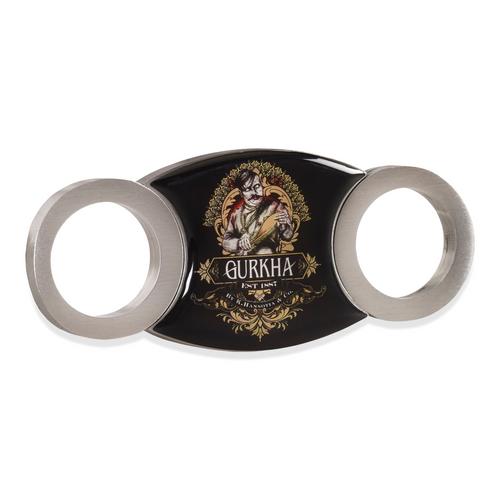 Gurkha Double O Guillotine Double-Blade Cigar Cutter - Steel