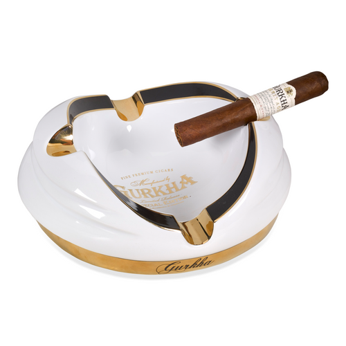 Gurkha Ceramic 4-Cigar Ashtray - White