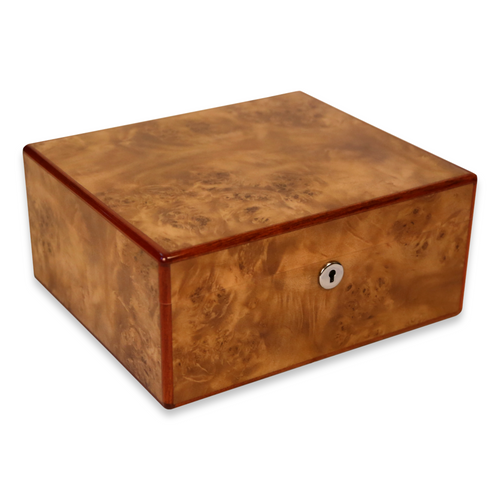 Diamond Crown Wesley 40-Cigar Desktop Humidor - St. James Series (DC-HUM-WESLEY-40) Exterior 3