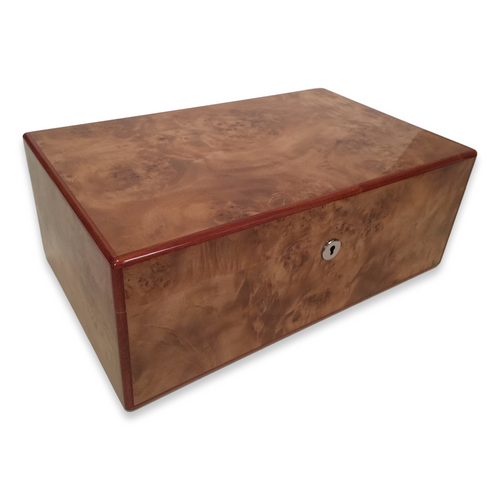 Diamond Crown Wesley 90-Cigar Desktop Humidor - St. James Series (DC-HUM-WESLEY-90) Exterior 1