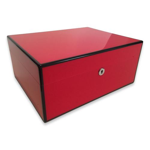 Diamond Crown Fuego 75-Cigar Desktop Humidor - Havana Collection (DC-HUM-FUEGO-75) Exterior 1