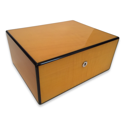 Diamond Crown Sol 75-Cigar Desktop Humidor - Havana Collection (DC-HUM-SOL-75) Exterior 1