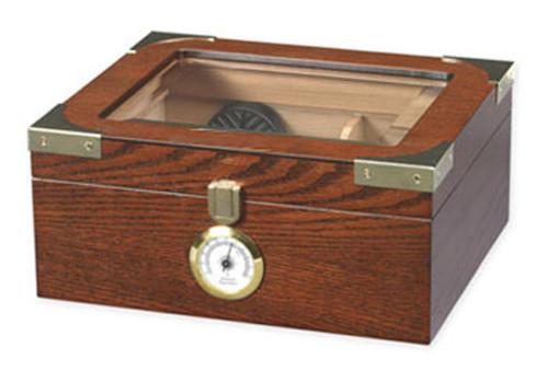 Capri Elegant Glasstop Desktop Humidor - 50 Cigars