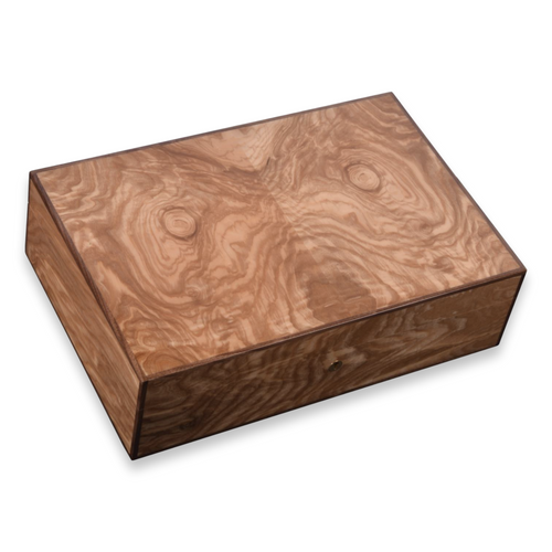 Elie Bleu Olive Wood 110 Cigar Humidor - Classic Collection - exterior
