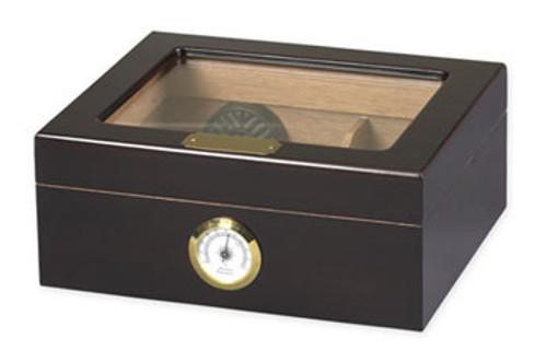Capri Mahagoni Glasstop Desktop Humidor - 50 Zigarren