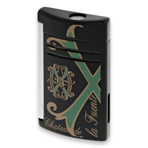 S.T. Dupont Fuente Fuente OpusX 25th Anniversary Logo - Maxijet Cigar Lighter - Black - Exterior - Front
