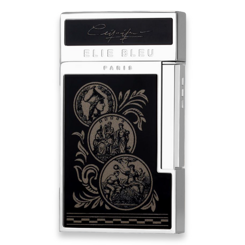 Elie Bleu J-14 Diamond Jet Flame Cigar Lighter - Medals Limited Edition (EB-LIT-J14D-MDLS) - Exterior - Front