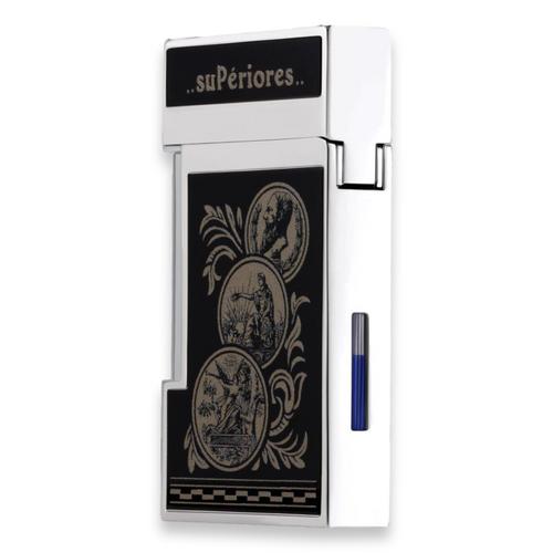 Elie Bleu J-14 Diamond Jet Flame Cigar Lighter - Medals Limited Edition (EB-LIT-J14D-MDLS) - Exterior - Back
