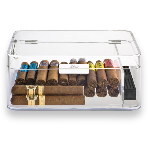 Zino Davidoff Clear 60-Cigar Acrylic Humidor (ZN-HUM-ACRL-60-CE)- Interior