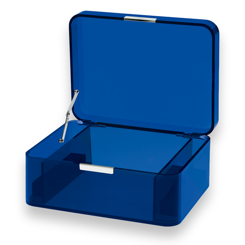 Zino Davidoff Blue 60-Cigar Acrylic Humidor (ZN-HUM-ACRL-60-BL) Interior