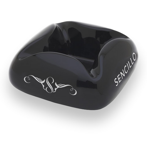 Prometheus Cloud Sencillo Ceramic 4-Cigar Ashtray - Black