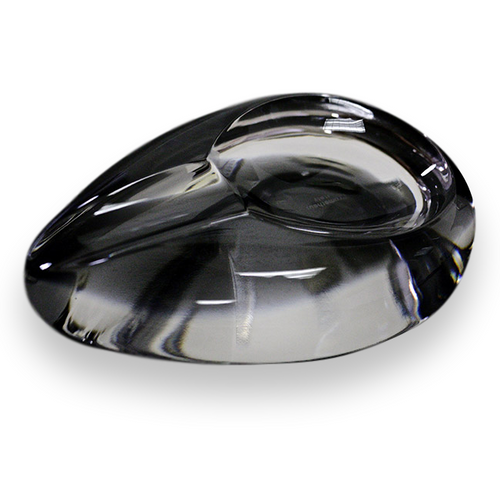 Prometheus Tear Drop Clear Crystal Ashtray (PR-ASH-TRDP-CLR) - Exterior 1