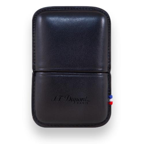 S.T. Dupont Ligne 2 Leather Lighter Case Black 51000611 - Exterior Front