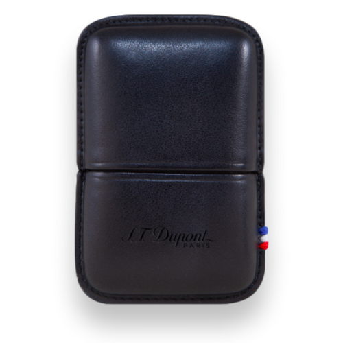 S.T. Dupont Ligne 2 Leather Lighter Case Black 51000611 - Exterior Front