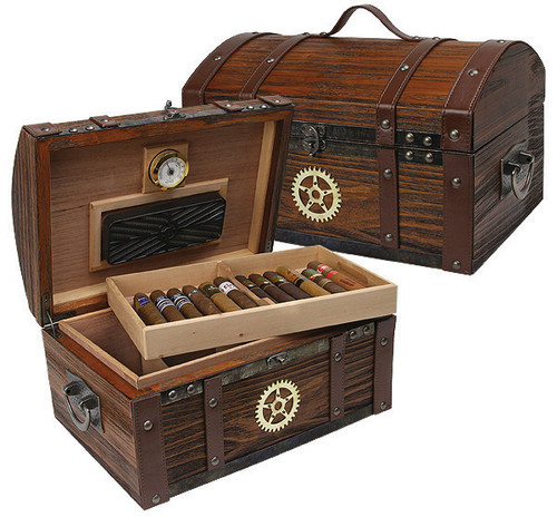 Steampunk Dome Humidor - 100 Cigars