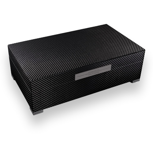 Prometheus Carbon Fiber 150 Cigar Humidor - Platinum Series Top