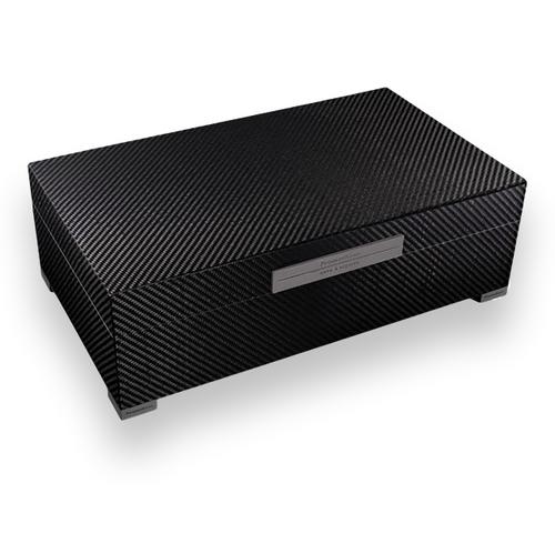 Prometheus Carbon Fiber 150 Cigar Humidor - Platinum Series Top