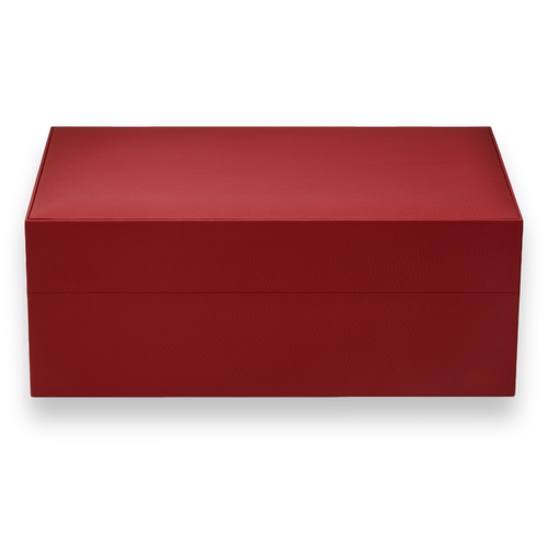 Davidoff Ambassador 80-Cigar Desktop Humidor - Leather Collection - Red - Exterior