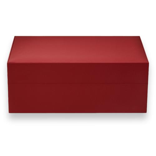 Davidoff Ambassador 80-Cigar Desktop Humidor - Leather Collection - Red - Exterior
