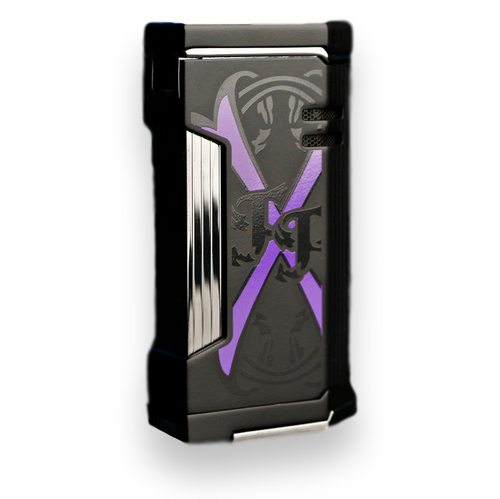 Prometheus Magma X Flat Torch Flame Cigar Lighter - 2019 Limited Edition Fuente Fuente OpusX Purple Rain - Black Matte - Exterior Side