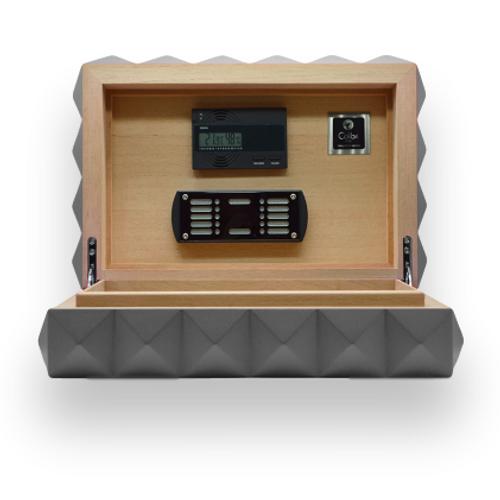 Colibri-Quasar 45-Zigarren Desktop Humidor - Gunmetal - Interieur