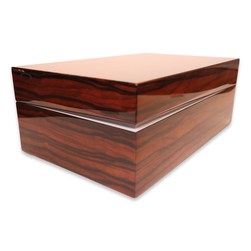 Davidoff Macassar Ebony 80-Cigar Desktop Humidor - Ambassador - Exterior Side 2