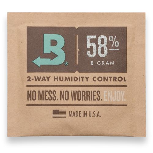 Boveda 58% Luftfeuchtigkeitspakete - 10 Stück, klein 8 g - Außenfront