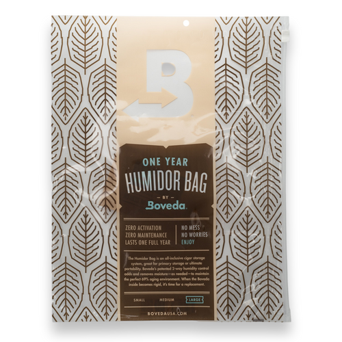 Boveda Large 80-Cigar Humidor Bag - 1-Pack - Exterior Front