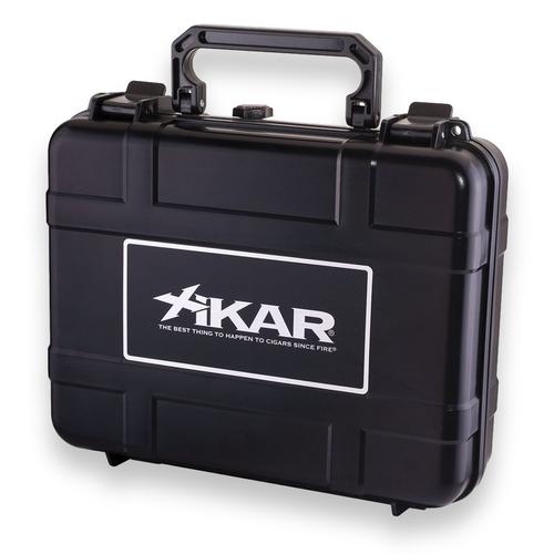 Xikar 20-Cigar Travel Humidor - Black - Exterior Front