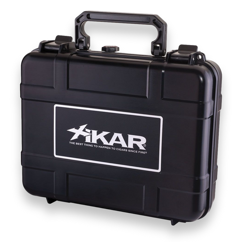 Xikar 20-Cigar Travel Humidor - Black - Exterior Front