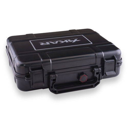 Xikar 20-Cigar Travel Humidor - Black - Exterior Side