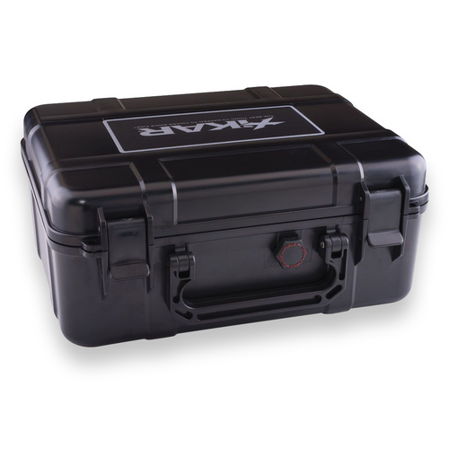 Xikar 40-Cigar Travel Humidor - Black - Exterior Side