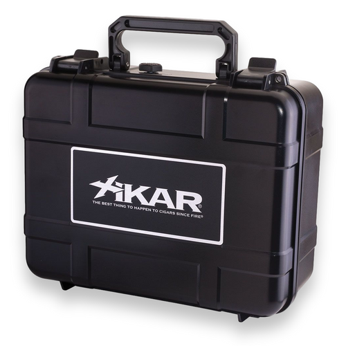 Xikar 40-Cigar Travel Humidor - Black - Exterior Front
