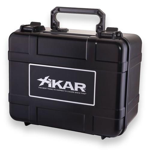 Xikar 60-Cigar Travel Humidor - Black - Exterior Front