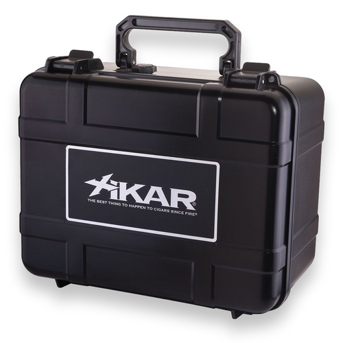 Xikar 60-Cigar Travel Humidor - Black - Exterior Front