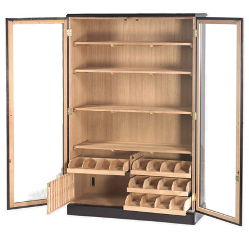 Commercial Humidor Wall Cabinet - 4000 Cigars