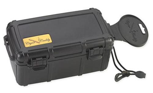 Cigar Caddy 3540 Matte Black Travel Humidor - 15 Cigars