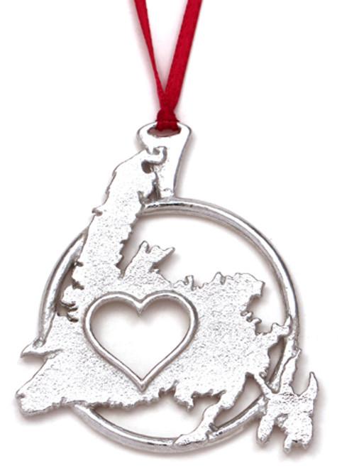 Love Newfoundland Ornament