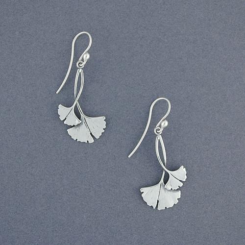 Ginkgo Leaf Earrings